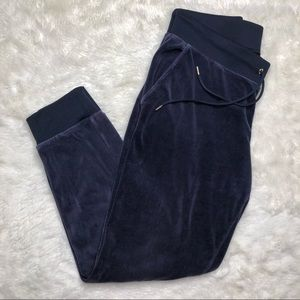 Juicy Couture Velour Pants Dark Blue Size Large
